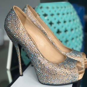 Gucci crystal shoes